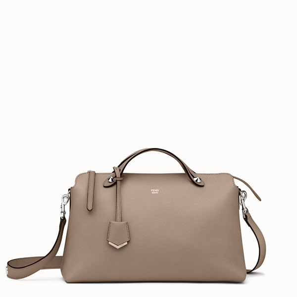 FENDI GRAND BY THE WAY - Sac Boston en cuir beige - view 1 small thumbnail
