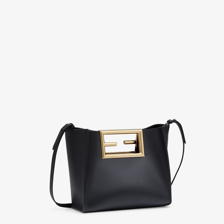 FENDI FENDI WAY SMALL - Black leather bag - view 2 detail