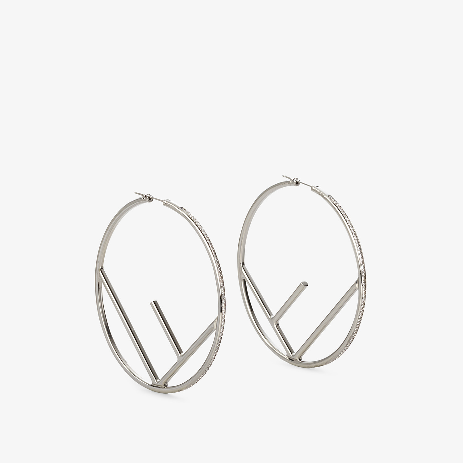 FENDI F IS FENDI EARRINGS - Silver-coloured earrings - view 1 detail