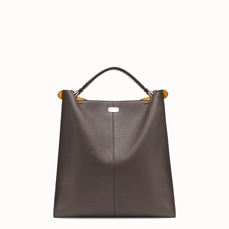 FENDI PEEKABOO X-LITE FIT - Brown leather bag - view 4 detail