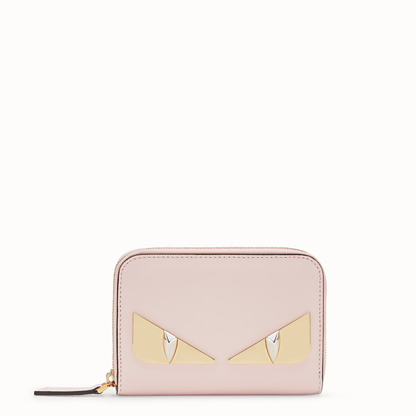 FENDI SMALL ZIP-AROUND - Pink leather wallet - view 1 small thumbnail