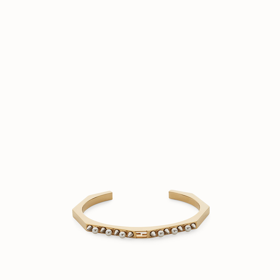 FENDI BAGUETTE BRACELET - Gold colour bracelet - view 1 detail