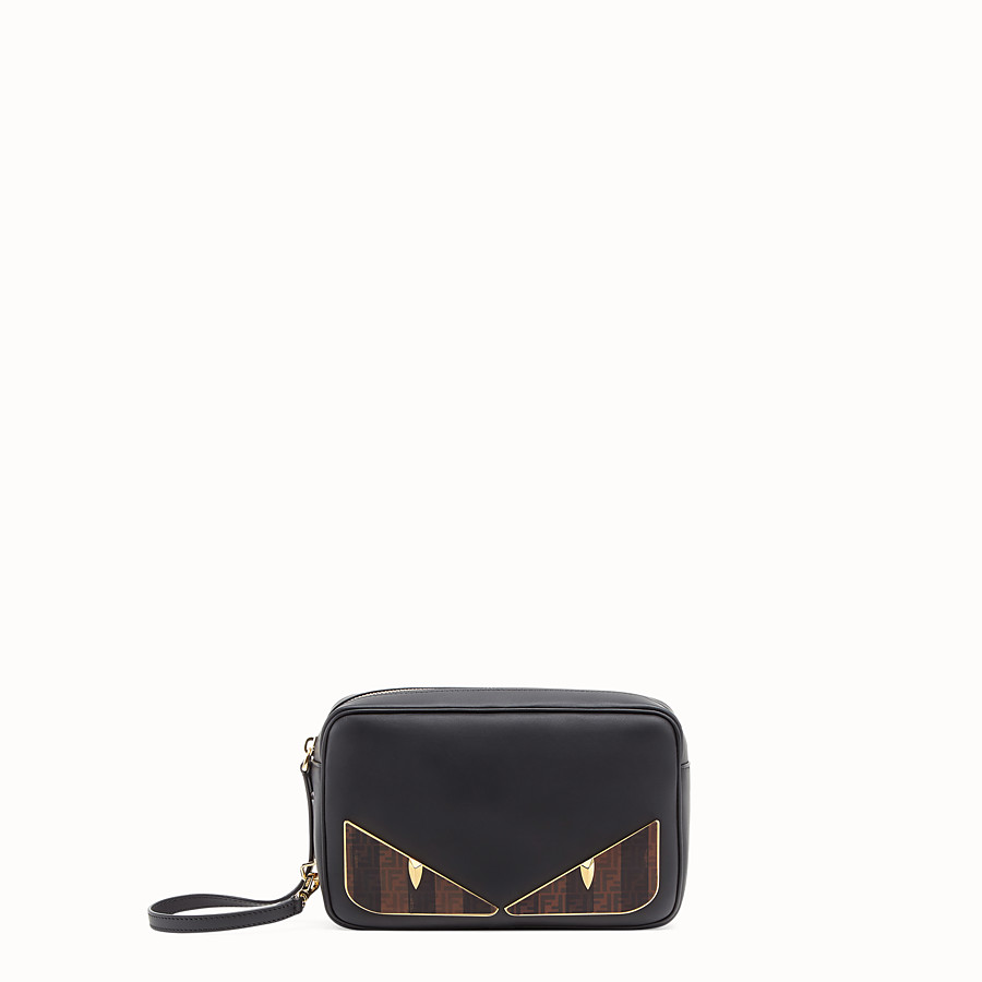 FENDI CAMERA CASE - Black leather bag - view 1 detail