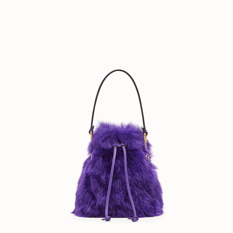 FENDI MON TRESOR - Purple sheepskin mini-bag - view 1 detail