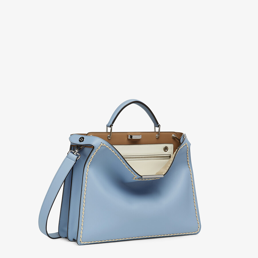 FENDI MEDIUM PEEKABOO ISEEU - Light blue leather bag - view 3 detail