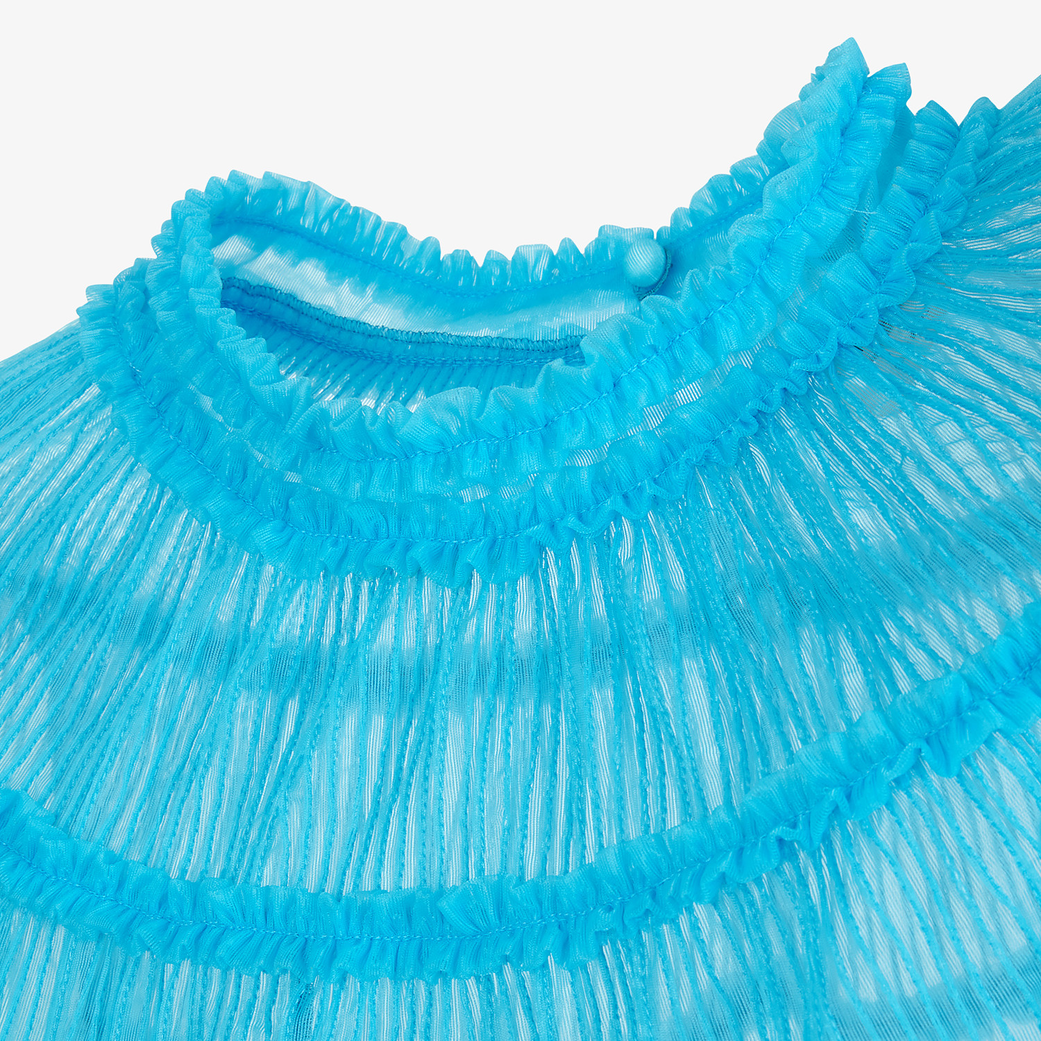 FENDI SHIRT - Light blue nylon blouse - view 3 detail