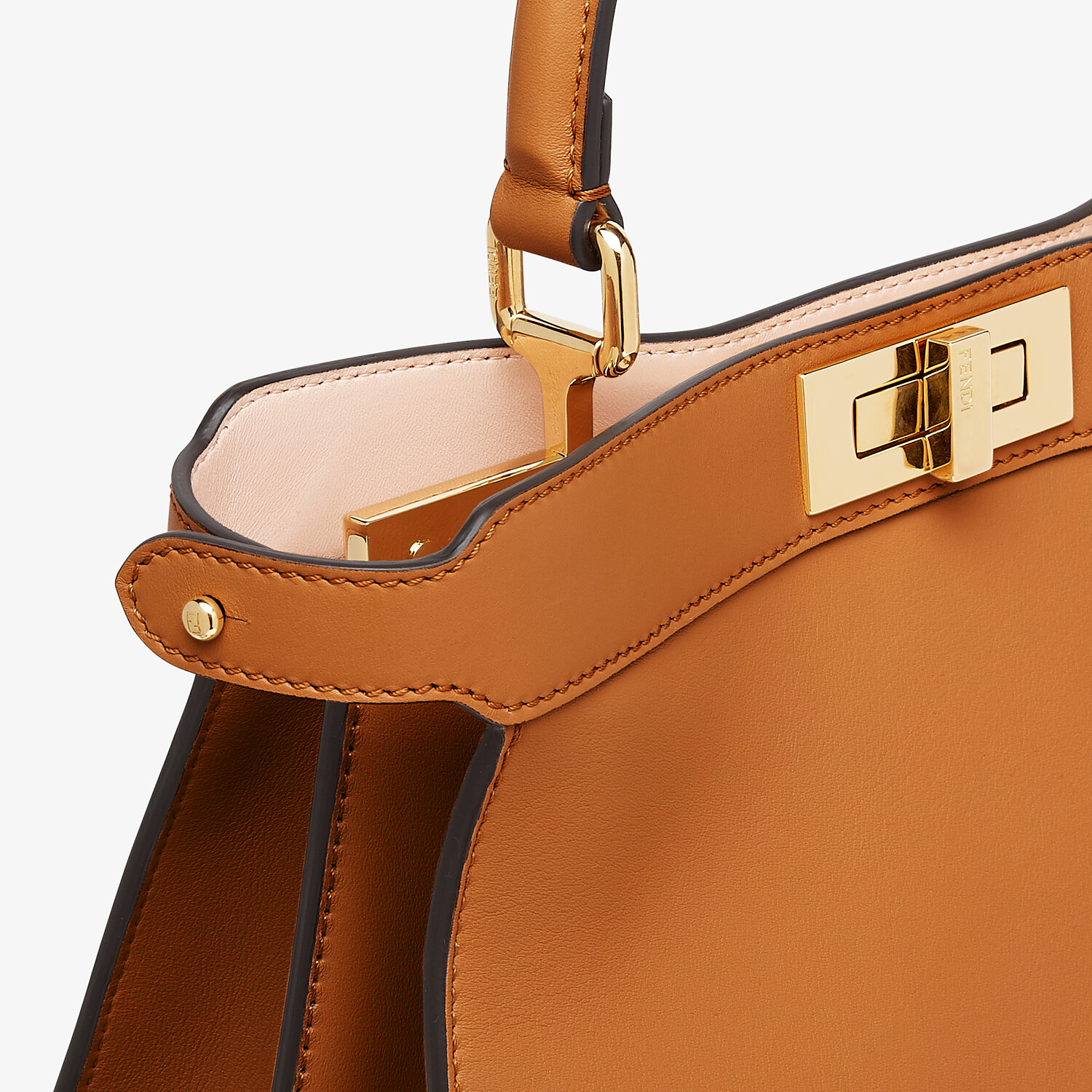 FENDI PEEKABOO ISEEU MEDIUM -  Brown leather bag - view 7 detail