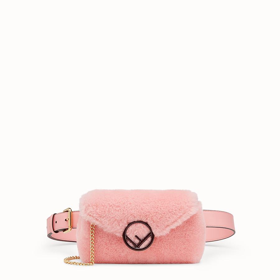 FENDI 벨트 백 - 핑크 컬러의 양가죽 벨트 백 - view 1 detail