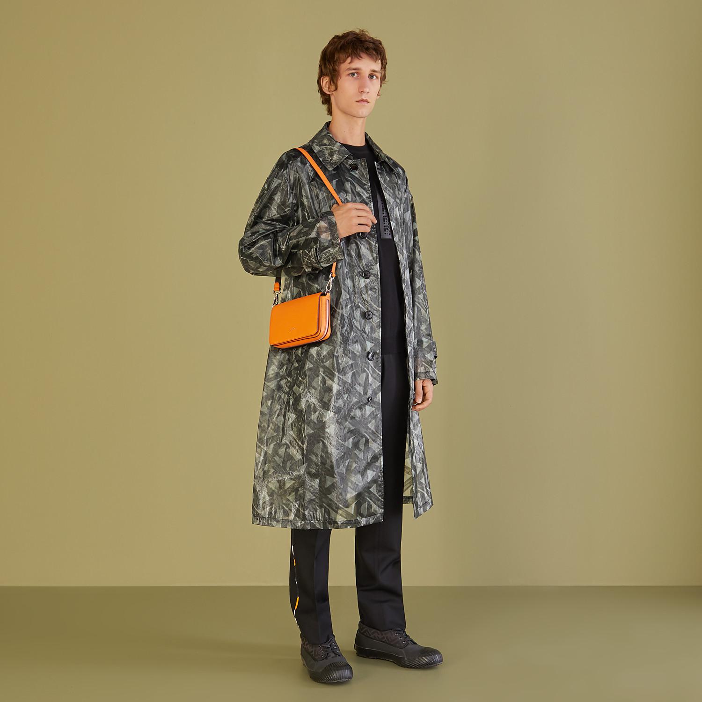 FENDI FLAP BAG - Orange leather bag - view 7 detail