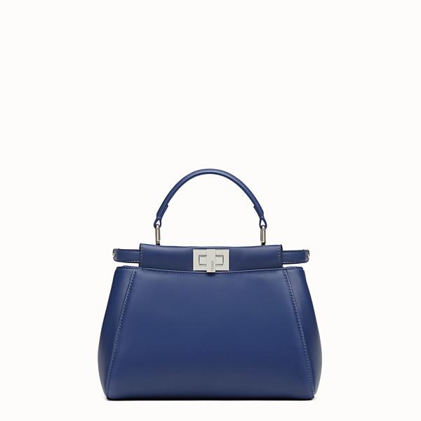 FENDI PEEKABOO MINI - borsa in nappa blu - vista 1 thumbnail piccola
