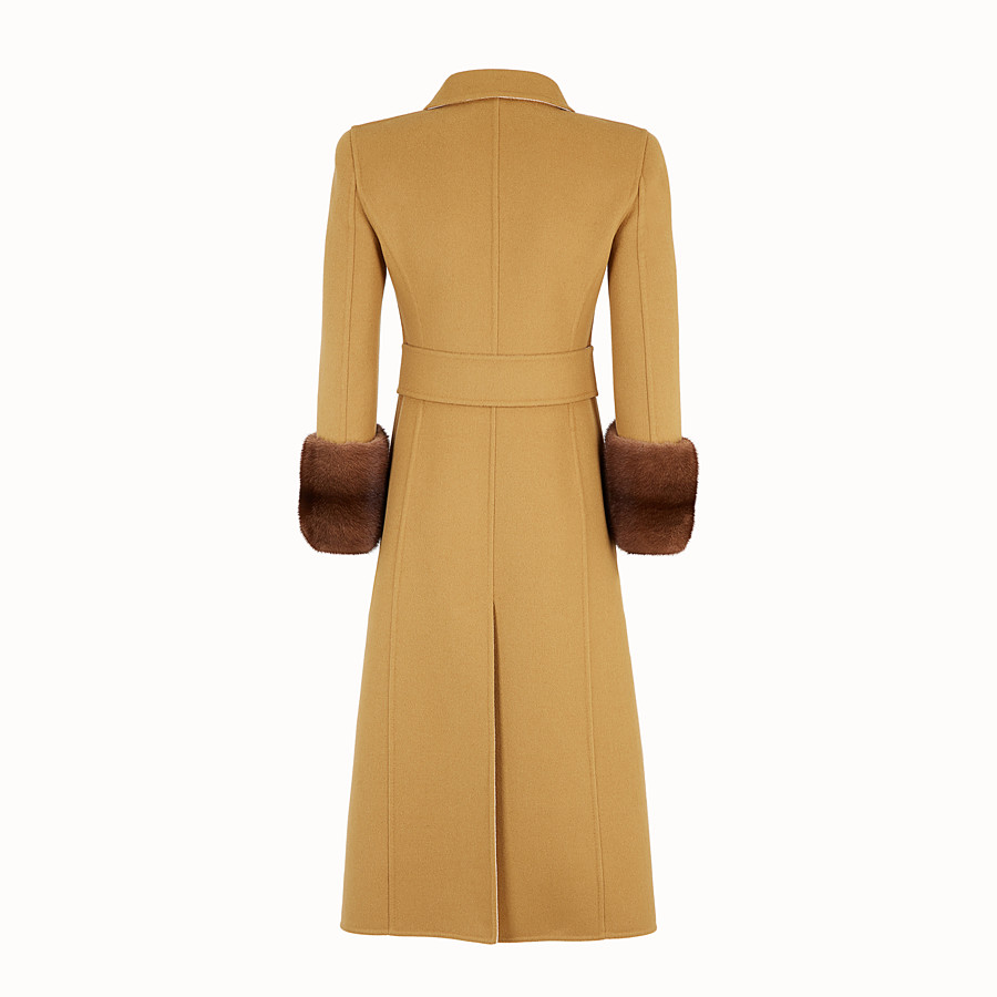FENDI OVERCOAT - Yellow wool overcoat - view 2 detail