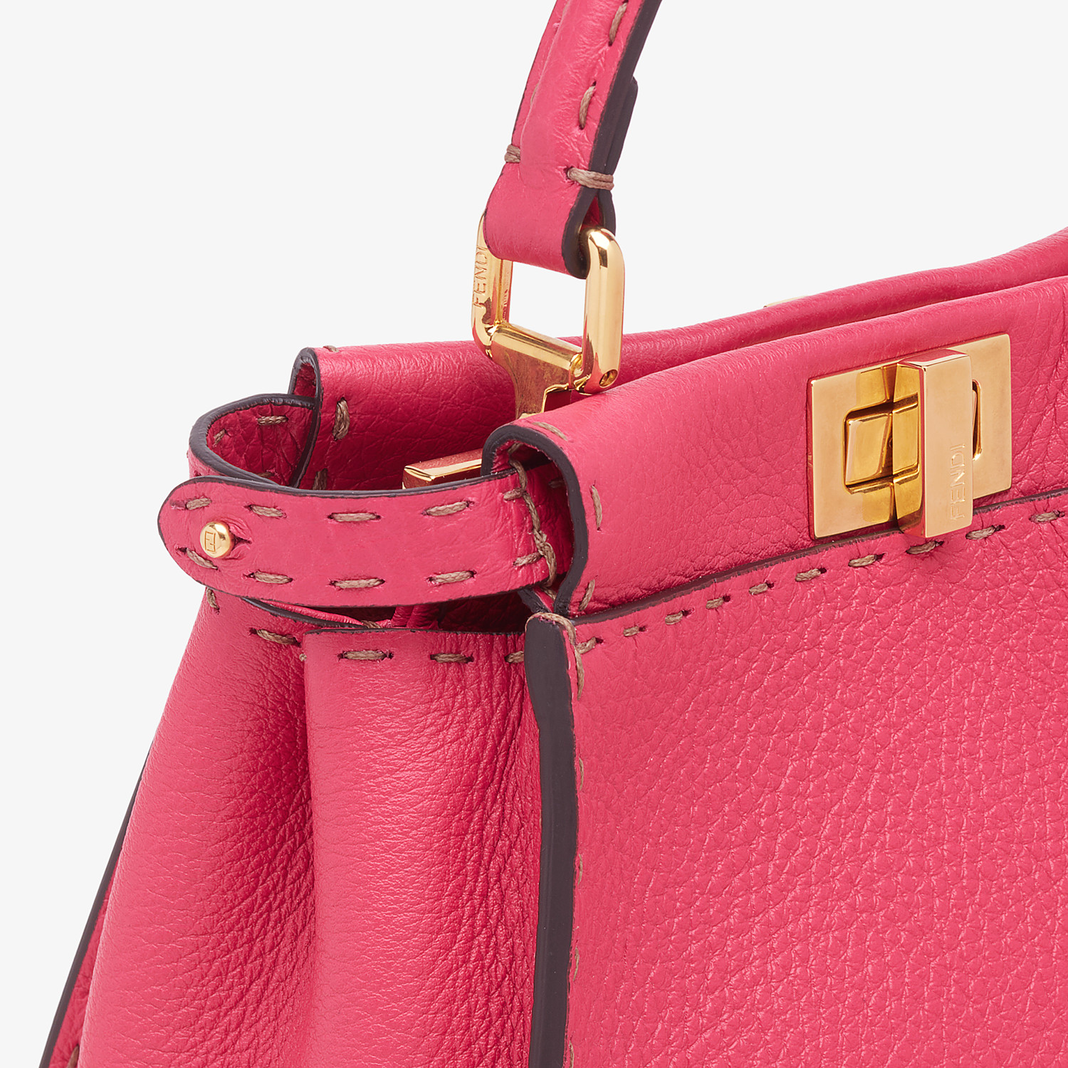 FENDI PEEKABOO ICONIC MINI - Fendi Roma Amor leather bag - view 6 detail