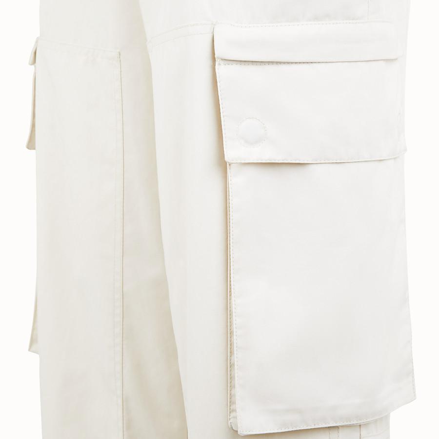 FENDI TROUSERS - White cotton trousers - view 3 detail