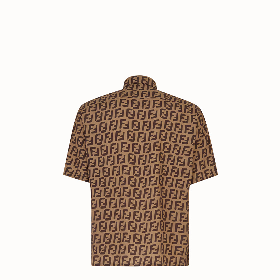 FENDI SHIRT - Brown fabric shirt - view 2 detail