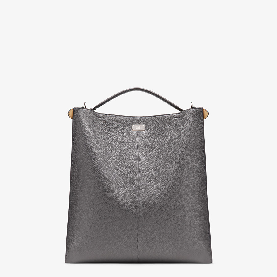 FENDI PEEKABOO X-LITE FIT - Gray leather bag - view 4 detail