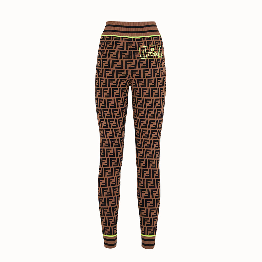 FENDI PANTALON - Legging Fendi Roma Amor en tissu - view 2 detail