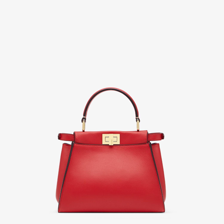 FENDI PEEKABOO ICONIC MINI - Red leather bag - view 4 detail