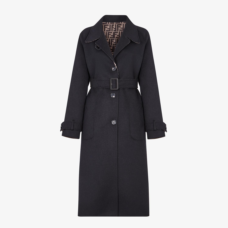 FENDI OVERCOAT - Black wool coat - view 1 detail