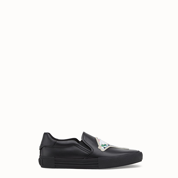 FENDI SNEAKER - Slip on in pelle nera - vista 1 thumbnail piccola