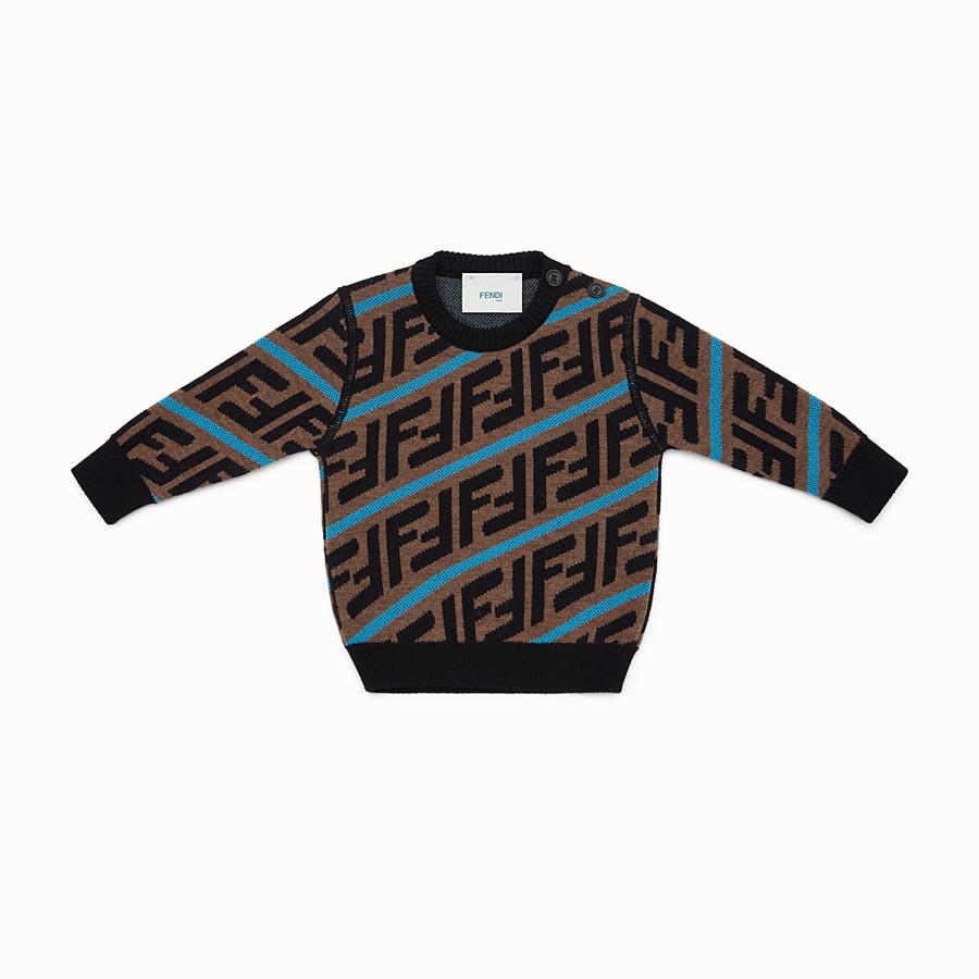 FENDI SWEATSHIRT - Pullover aus Wolle in Braun - view 1 detail