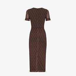 FENDI KLEID - Kleid aus Mikro-Netz in Braun - view 2 thumbnail