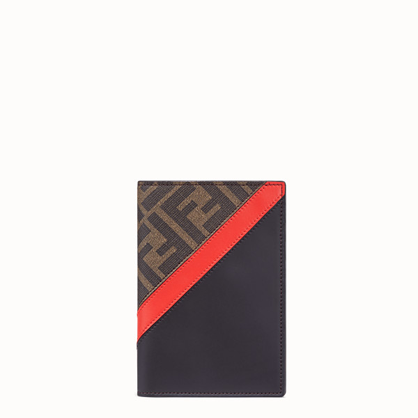 FENDI PASSPORT COVER - Brown fabric passport cover - view 1 small thumbnail