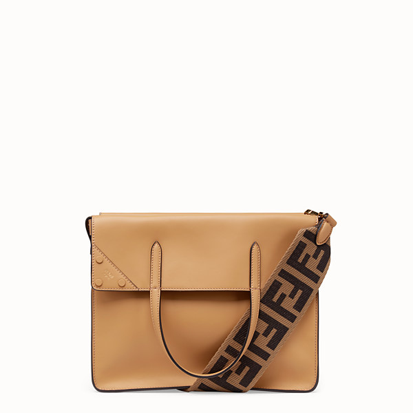 FENDI FENDI FLIP LARGE - Beige leather bag - view 1 small thumbnail