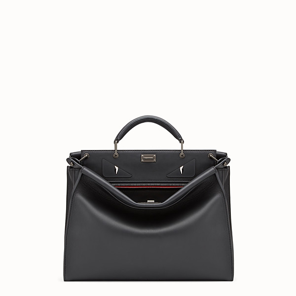 FENDI PEEKABOO ICONIC FIT - Smooth black leather bag - view 1 small thumbnail
