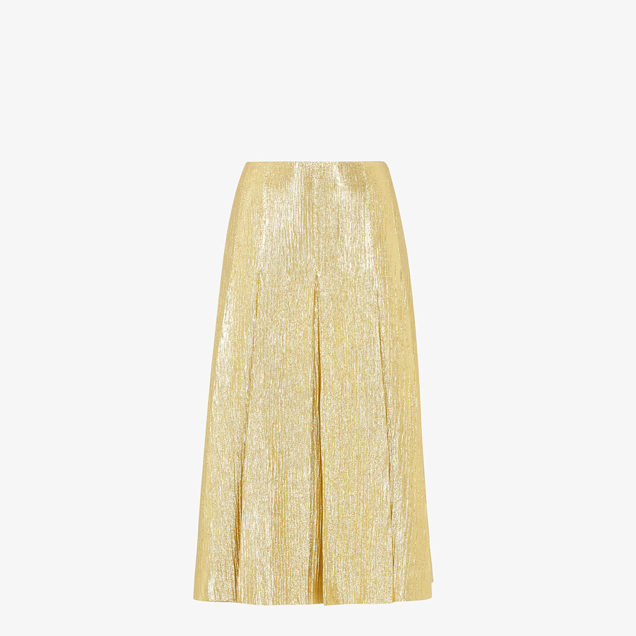 FENDI SKIRT - Gold Lurex skirt - view 1 detail