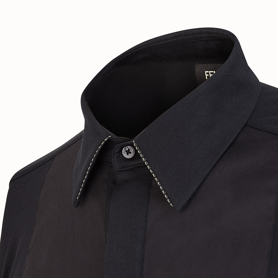 FENDI SHIRT - Black jersey shirt - view 3 detail
