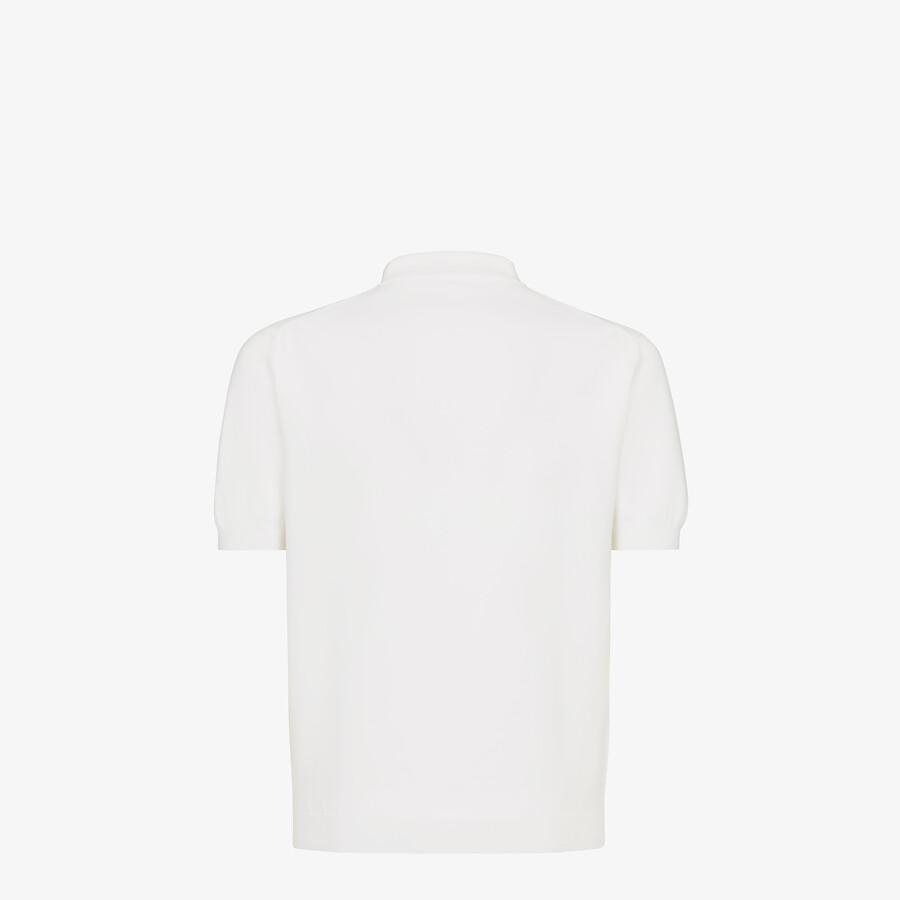 FENDI POLO SHIRT - White cotton polo shirt - view 2 detail
