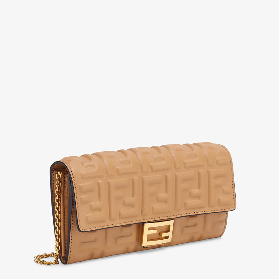 FENDI CONTINENTAL WITH CHAIN - Beige nappa leather wallet - view 2 detail