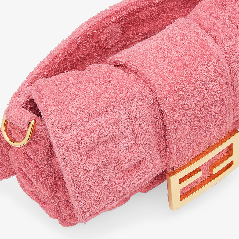 FENDI BAGUETTE - Pink terrycloth bag - view 7 detail