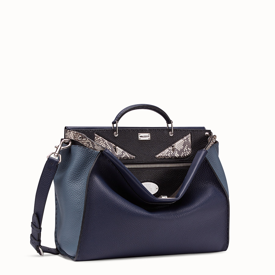 FENDI PEEKABOO MEDIUM - Blue Romano leather bag - view 2 detail