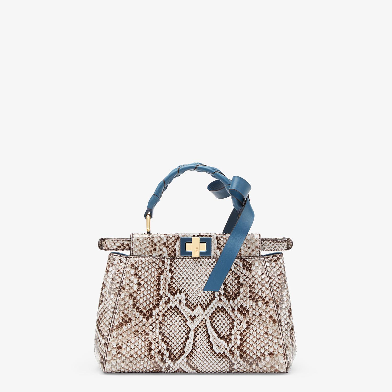 FENDI PEEKABOO ICONIC MINI - Gray python bag - view 4 detail