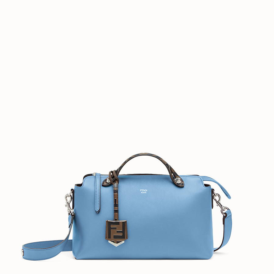 FENDI BY THE WAY REGULAR - Pale blue leather Boston bag - view 1 detail
