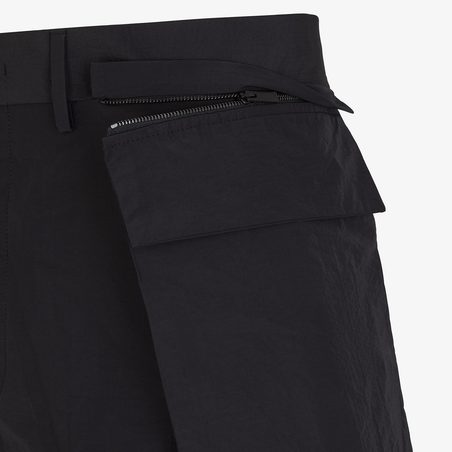 FENDI PANTS - Cotton and black nylon Bermudas - view 3 detail