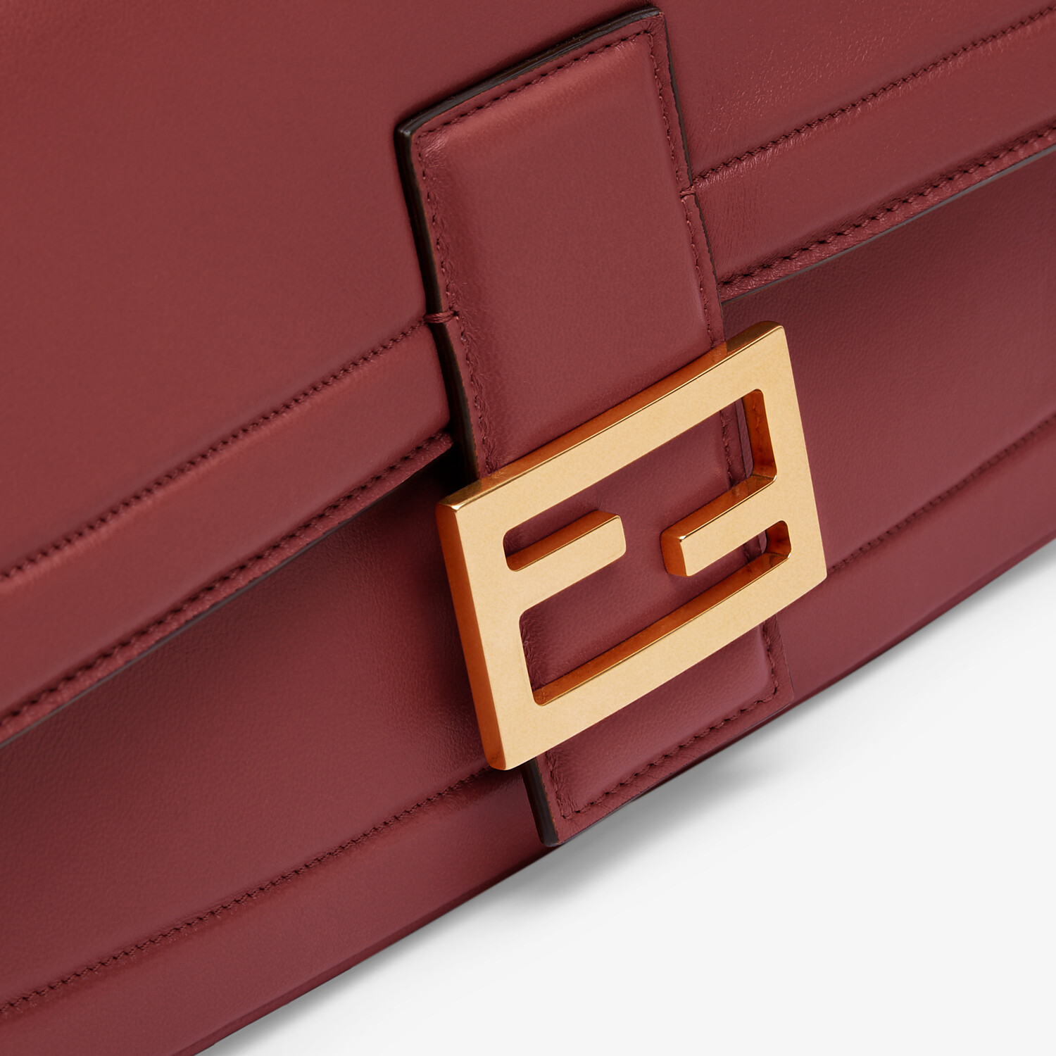 FENDI BAGUETTE CHAIN - Red nappa leather bag - view 5 detail