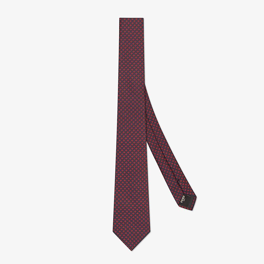 FENDI TIE - Gray silk tie - view 1 detail