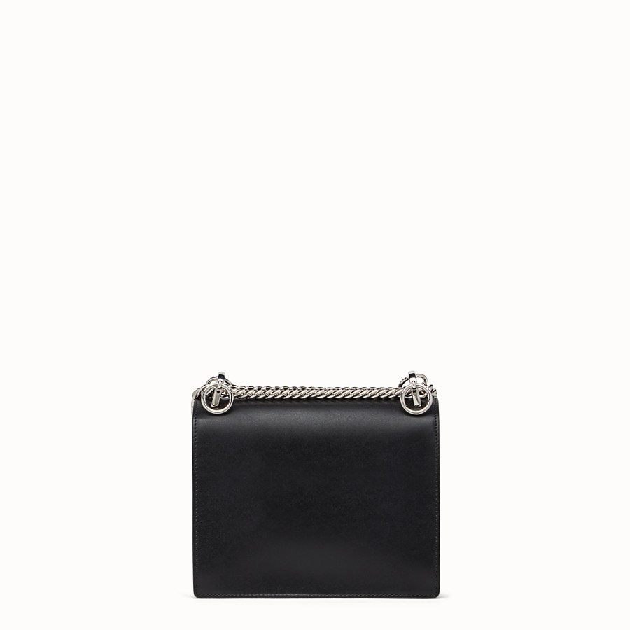 FENDI KAN I SMALL - Bag Bugs black leather mini bag - view 3 detail