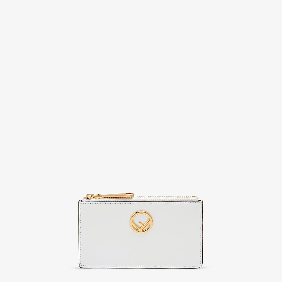 FENDI CARD POUCH - White leather card holder - view 1 detail
