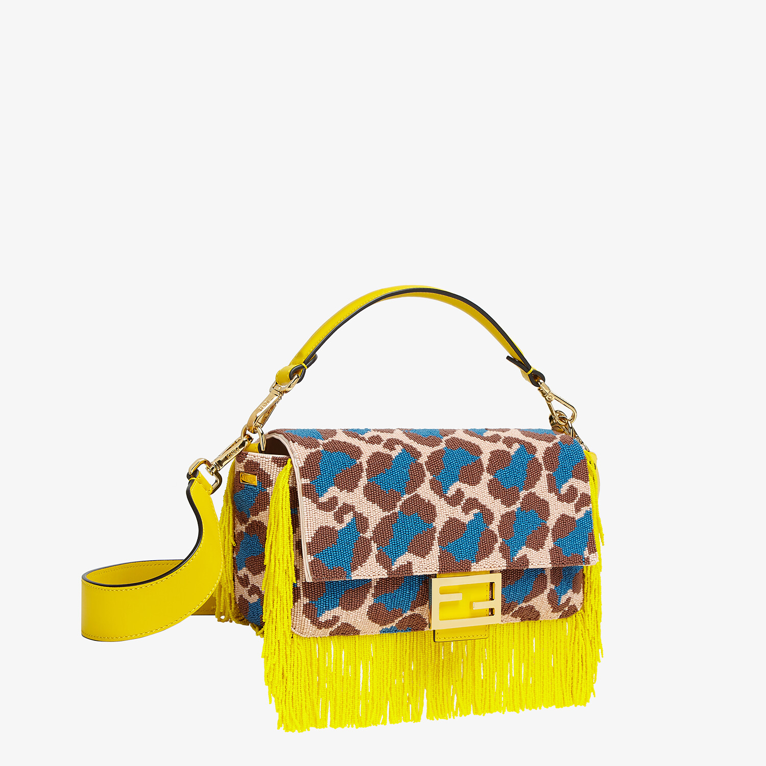 FENDI BAGUETTE - Bag with multicolor beads - view 3 detail