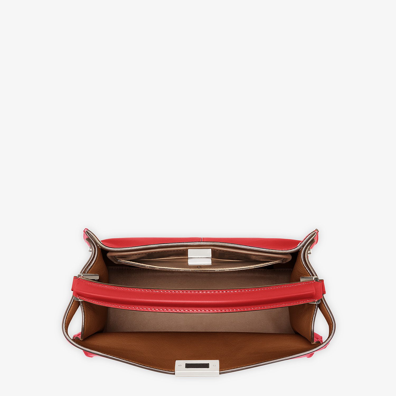 FENDI PEEKABOO X-LITE MEDIUM - Tasche aus Leder in Rot - view 6 detail