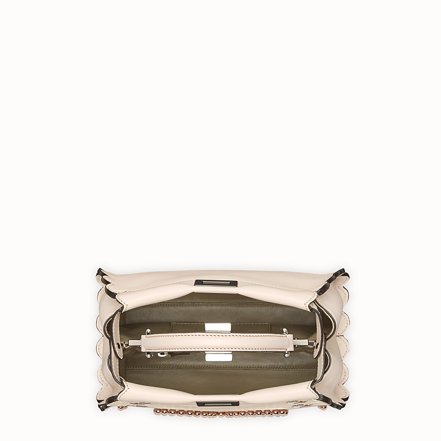 FENDI PEEKABOO MINI - Pink leather bag - view 4 detail