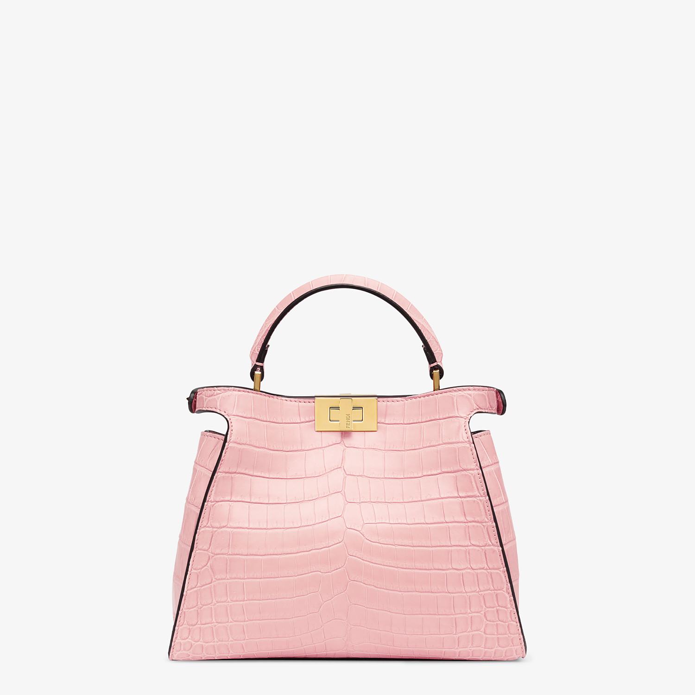 FENDI PEEKABOO ICONIC ESSENTIALLY - Pink crocodile bag - view 3 detail