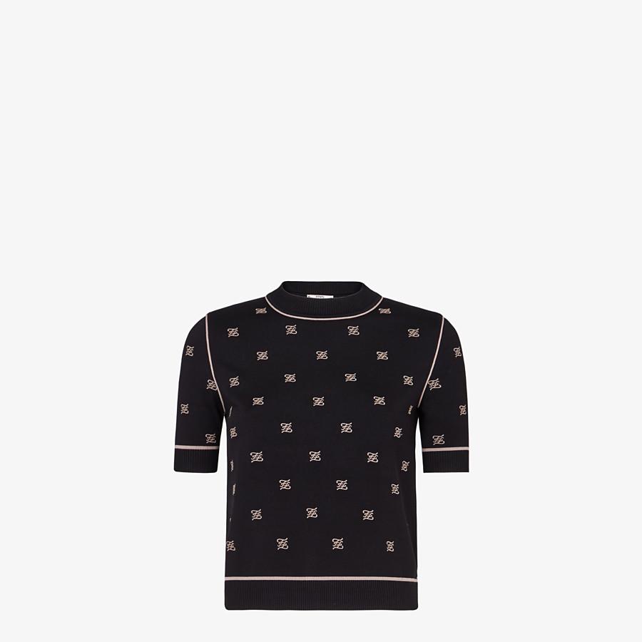 FENDI SWEATER - Black viscose sweater - view 1 detail