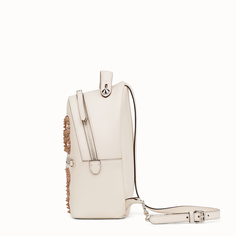FENDI MINI BACKPACK - Small white leather backpack - view 2 detail