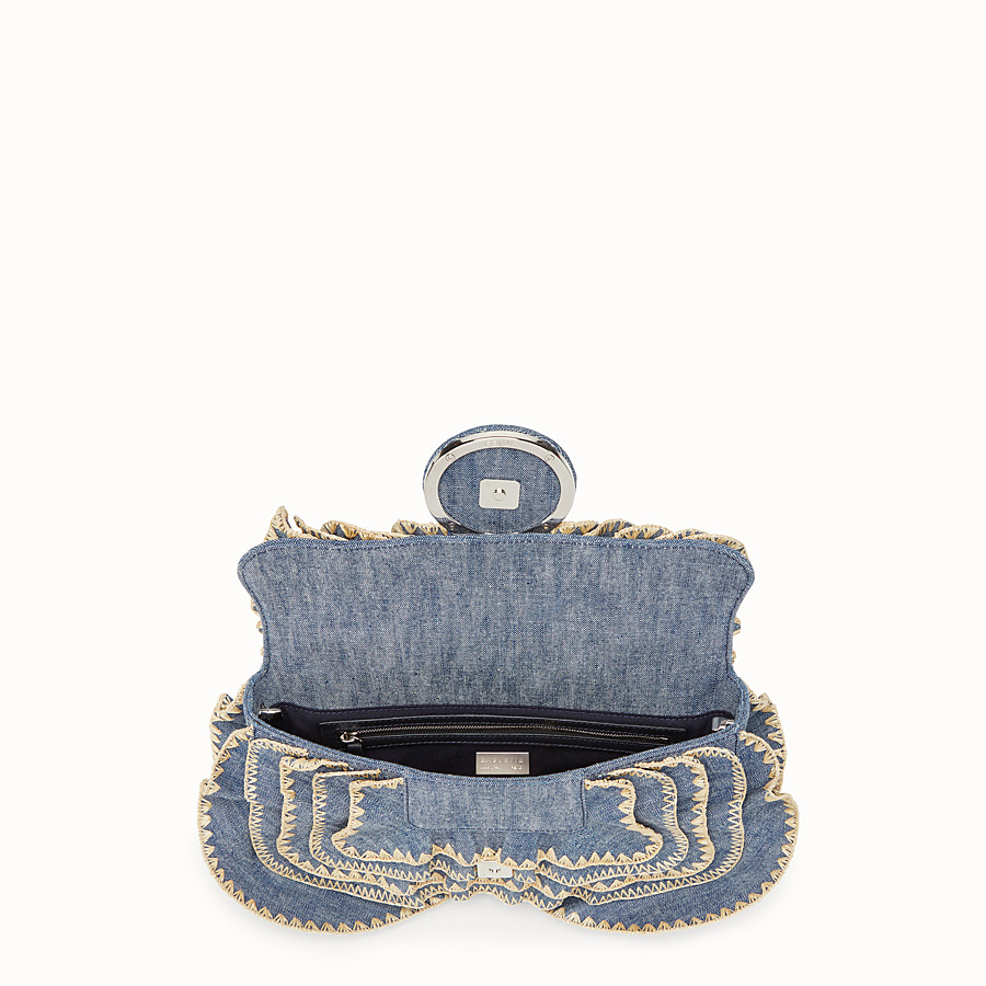 FENDI BAGUETTE - Sac en denim bleu - view 4 detail