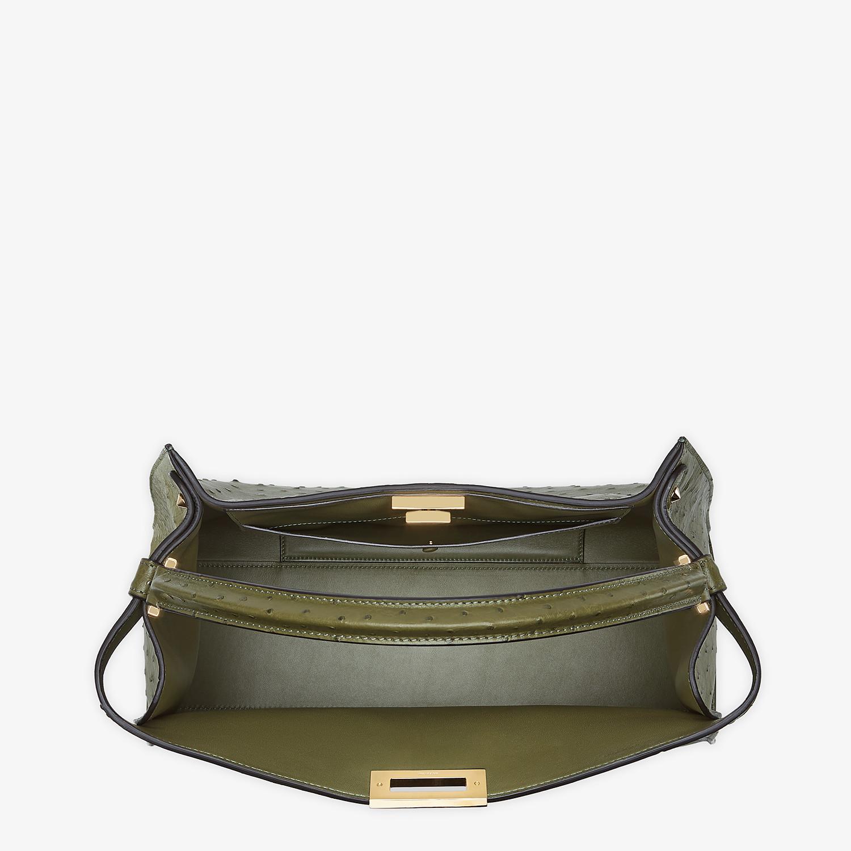 FENDI PEEKABOO X-LITE LARGE - Green ostrich leather bag - view 5 detail