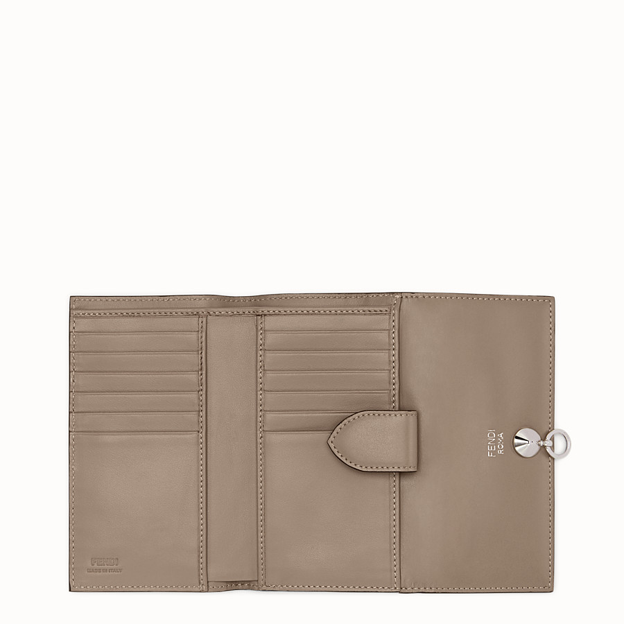 FENDI CONTINENTAL MEDIUM - Grey leather wallet - view 5 detail